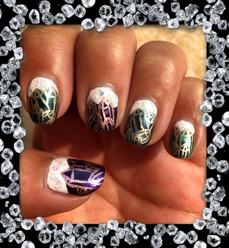 crystal cavern nail art by Idreaminpolish