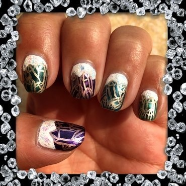 crystal cavern nail art by Idreaminpolish