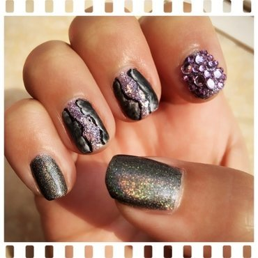 amethyst geode nail art by Idreaminpolish