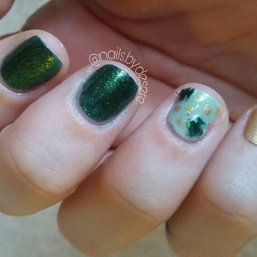 Luck of the Irish nail art by Desere Olson