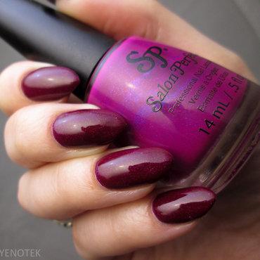 Salon Perfect Electric Grape Swatch by Yenotek