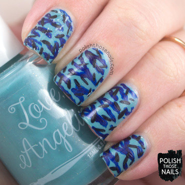 Love angeline love one another robin blue flakies camo nail art 3 thumb370f