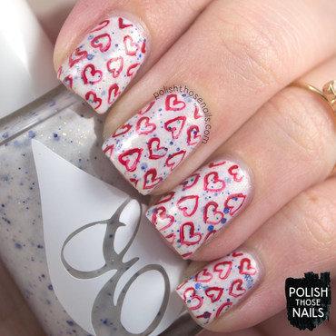 White blue glitter red heart pattern nail art 4 thumb370f