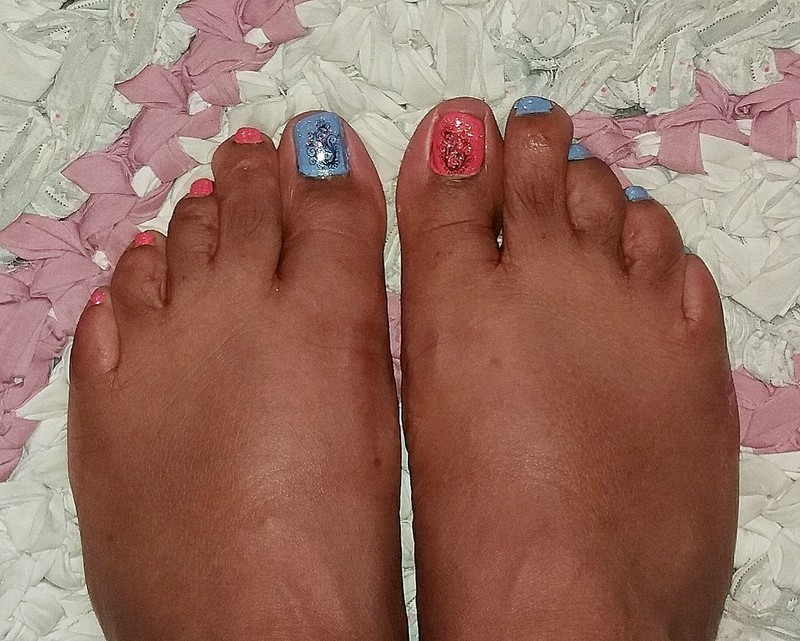 First Pedi of the Season nail art by Jackie Bodick