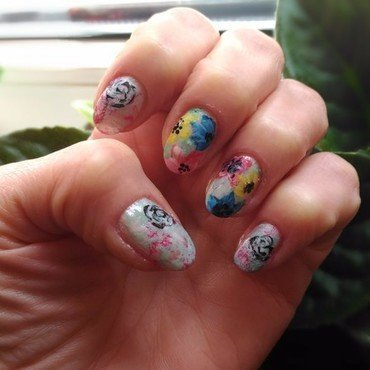 Spring mani 3 nail art by tigerlyly