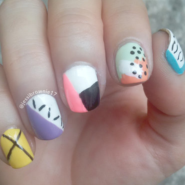 Ode to Stationery nail art by Jessi Brownie (Jessi)