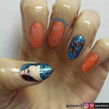I Swim with the Fishes nail art by chleda15