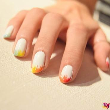 Holi Rainbow nail art by i-am-nail-art
