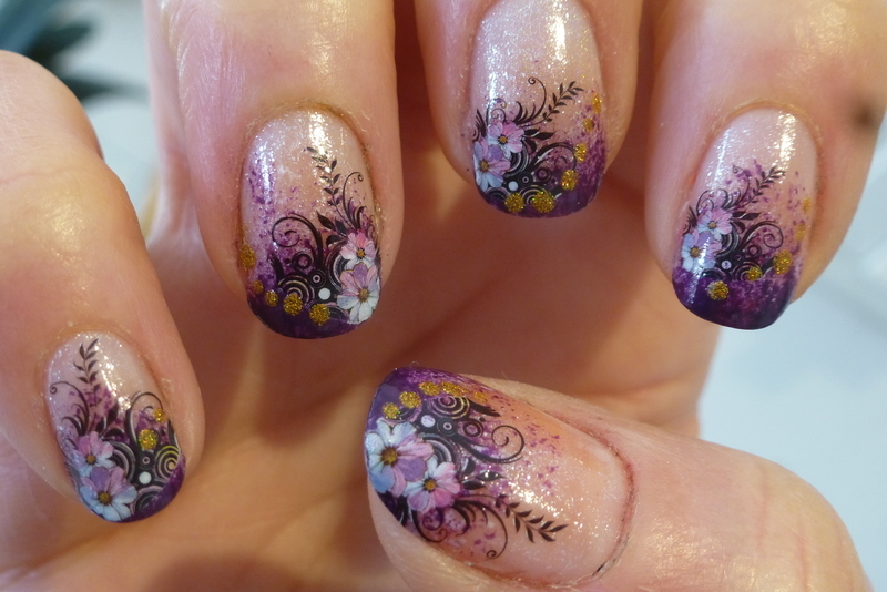 Sponging nail art by Barbouilleuse