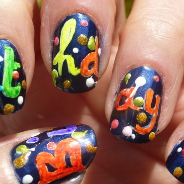 Birthday ! nail art by Barbouilleuse
