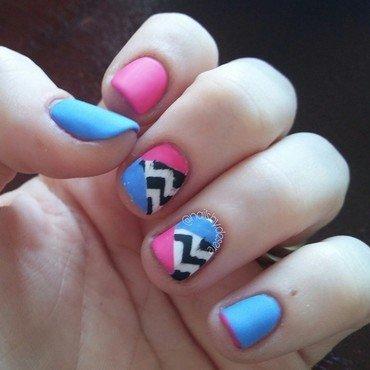 Retro nail art by Desere Olson