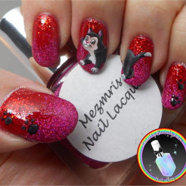 Freehand Figaro From Pinocchio! nail art by Ithfifi Williams