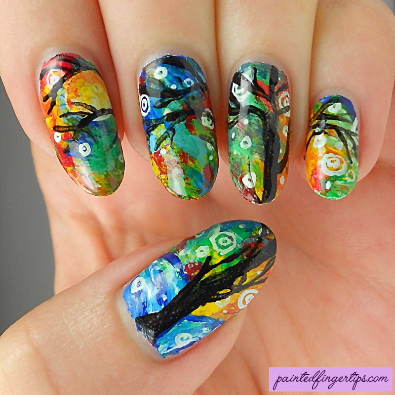 First Snow Fall recreation nail art by Kerry_Fingertips