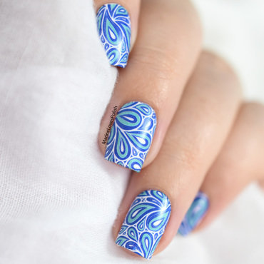 Droplets nail art by Marine Loves Polish