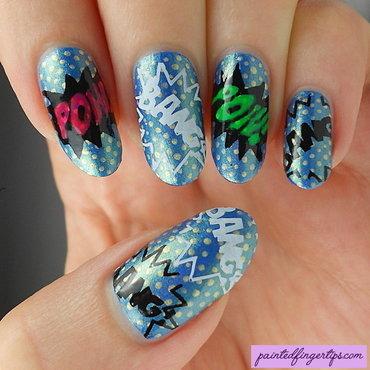 Lichtenstein pop nail art thumb370f