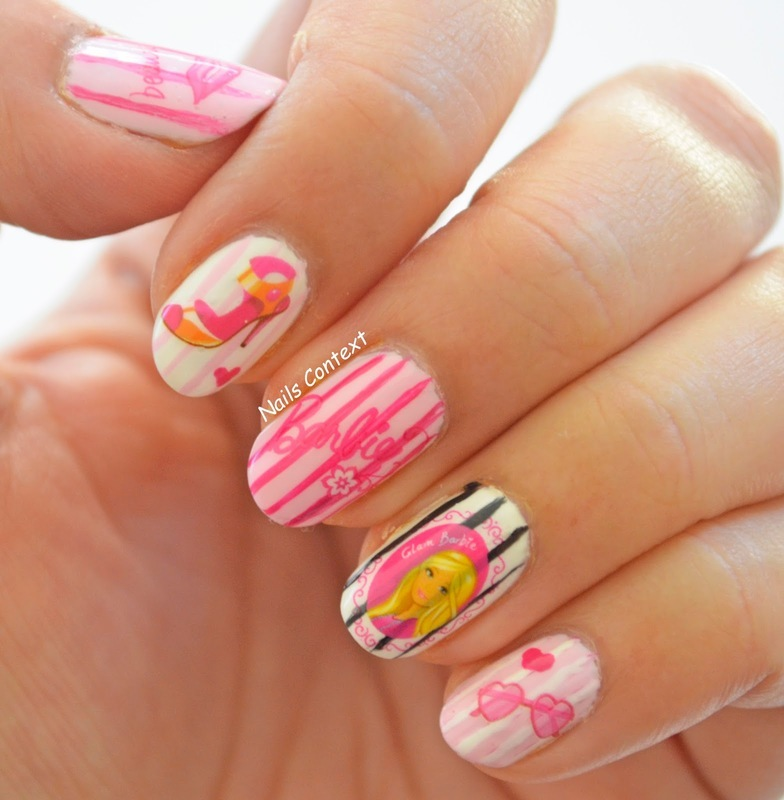 Barbie Nails  nail art by NailsContext