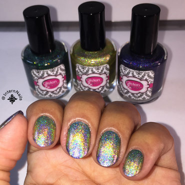 Gradient Holographic Nails  nail art by Milpa  InternNails