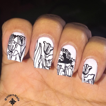 coloring Book Nails AdultsColoringBookNails  nail art by Milpa  InternNails