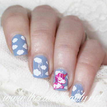 Spring Unicorn nail art by The Call of Beauty