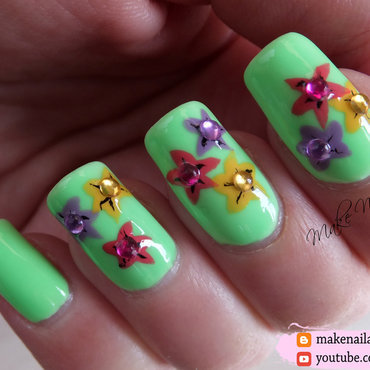 Easy 20spring 20nails 20flowers 20nail 20art 20design 20tutorial thumb370f