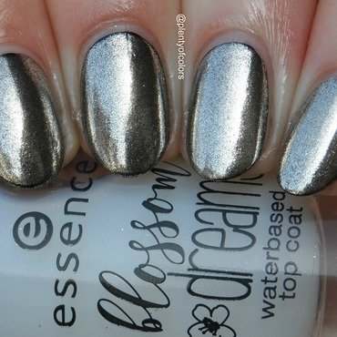 Essie Licorice and Essence Mirror Effect Nail Pigment Mirror, Mirror on my Nails Swatch by Plenty of Colors