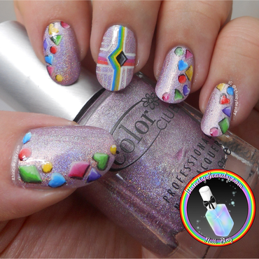 Freehan 3D Confetti Charms nail art by Ithfifi Williams