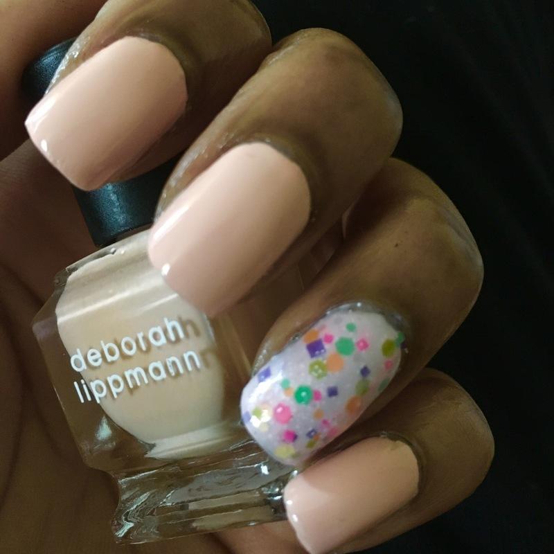 Sherbet Sprinkles nail art by Chloe Jay