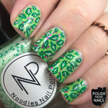 Vegetarian Noms nail art by Marisa  Cavanaugh