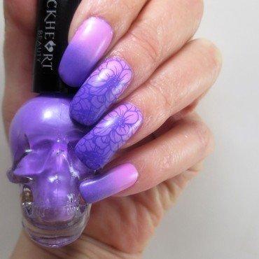 Spring Floral Gradient nail art by NinaB