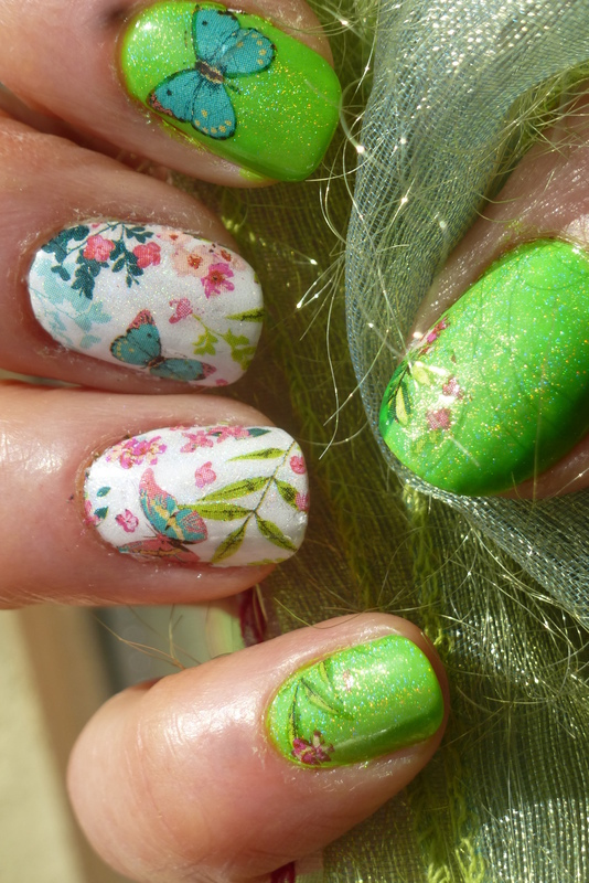 Spimg is coming ! nail art by Barbouilleuse