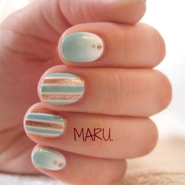 Acquamarina nail art by Martina