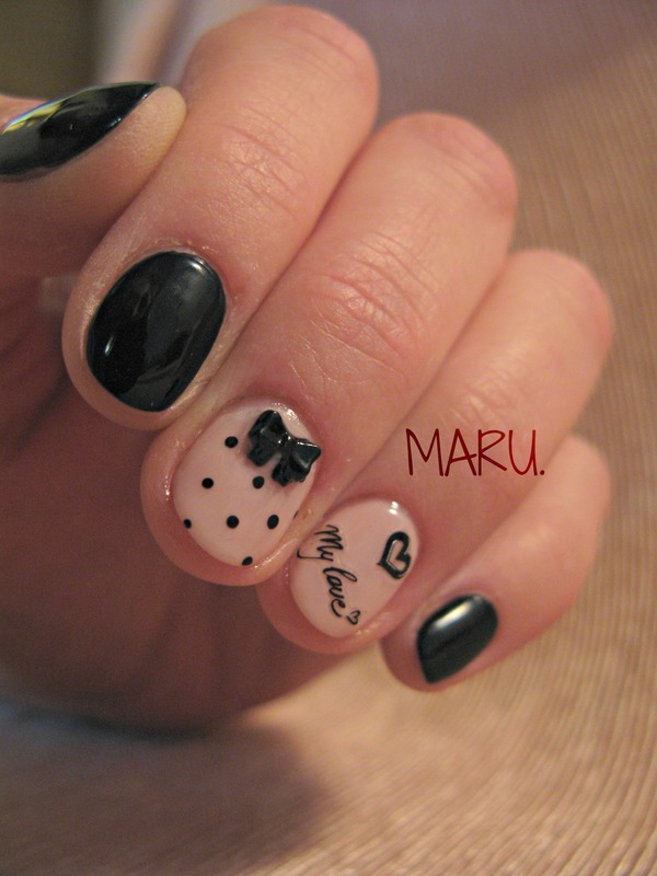 My love nail art by Martina