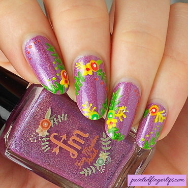 Fair maiden logo nail art thumb370f