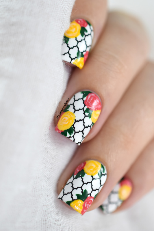 Hello Spring! nail art by Marine Loves Polish