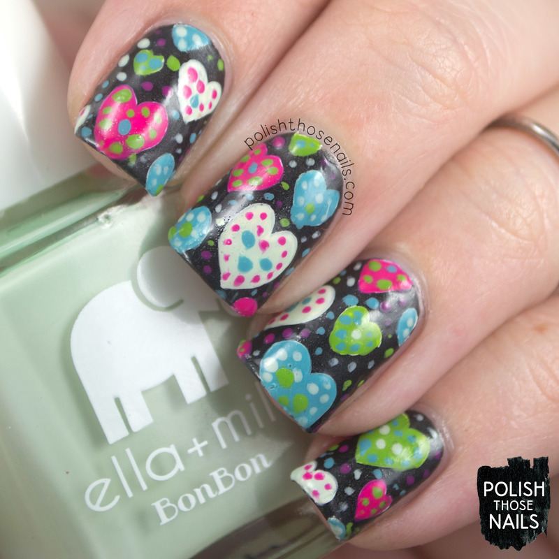Polka Dot Your Love nail art by Marisa  Cavanaugh