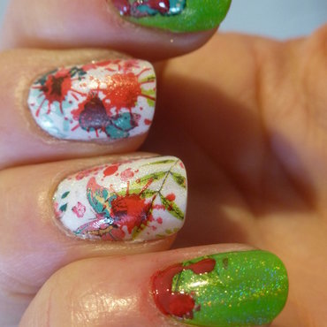 Coronel Nick in the garden nail art by Barbouilleuse