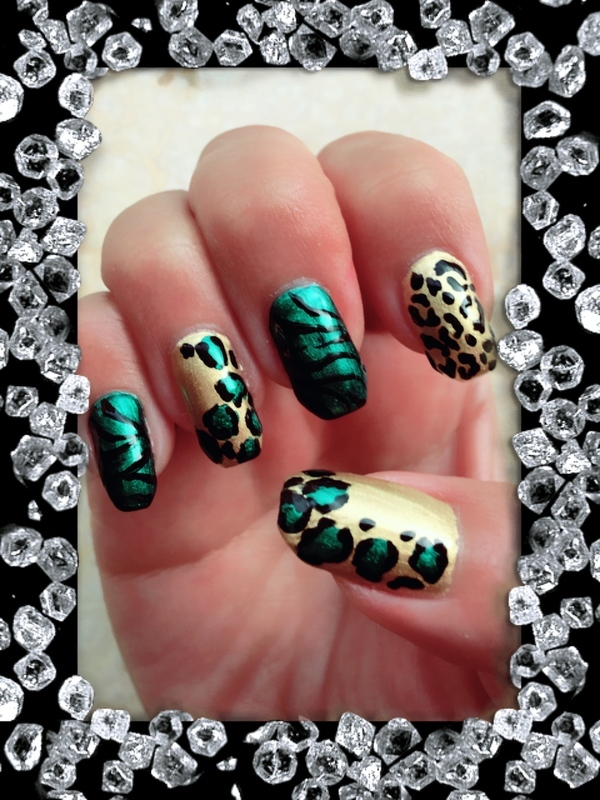 queen of the jungle nail art by Idreaminpolish