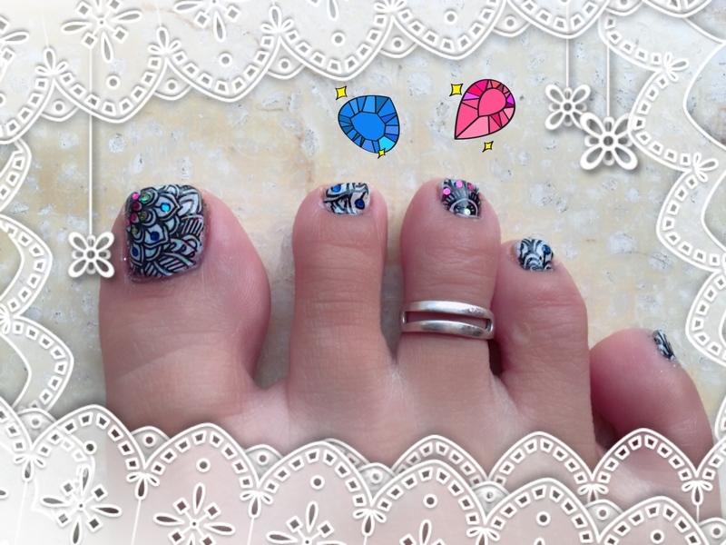 smoothie stamping nail art by Idreaminpolish