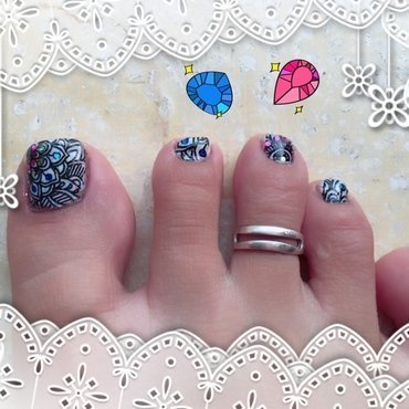 smoothie stamping nail art by Idreaminpolish