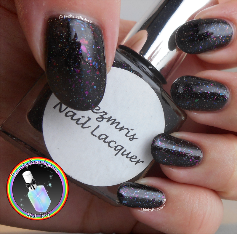 Mezmris Nail Lacquer Psychedelic Galaxy Swatch by Ithfifi Williams