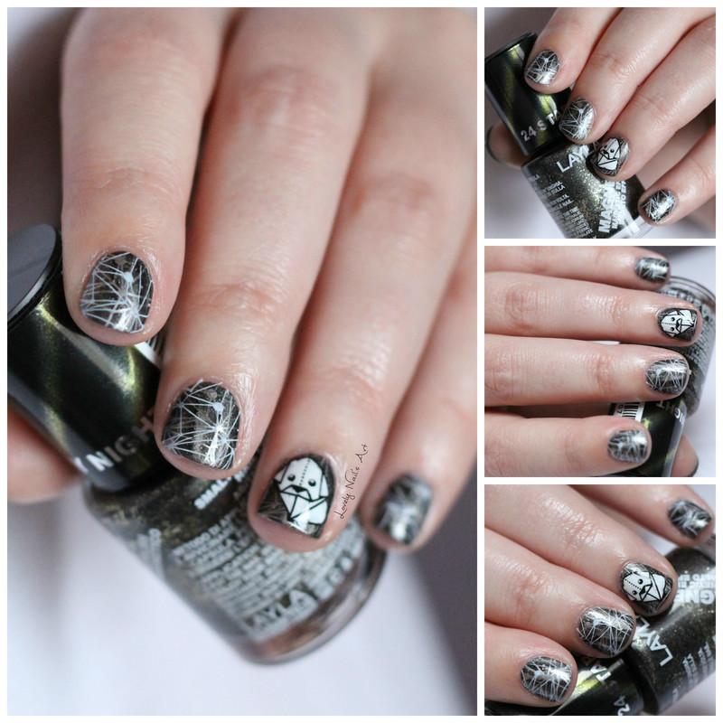 nail art stamping origami nail art by Lovely Nail's  Art