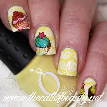 Cupcake Manicure nail art by The Call of Beauty