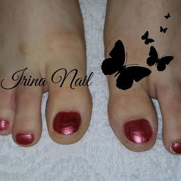 Pedicure  nail art by Irina Nail