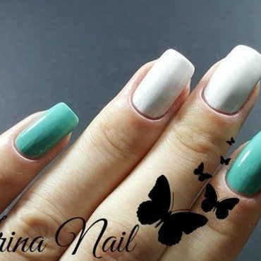 Oriflame TheONE Long Wear Mint Zest and Oriflame TheONE White tip Swatch by Irina Nail