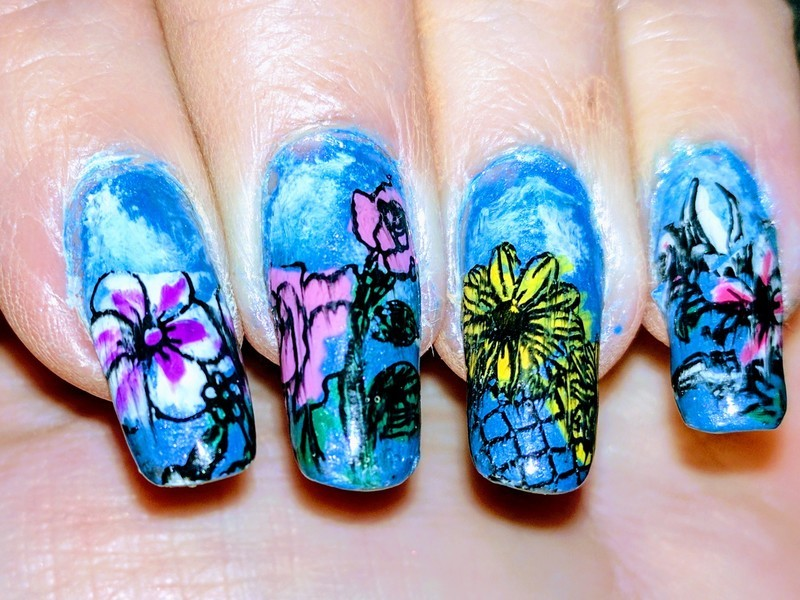 Welcome Spring nail art by Maureen Spaulding