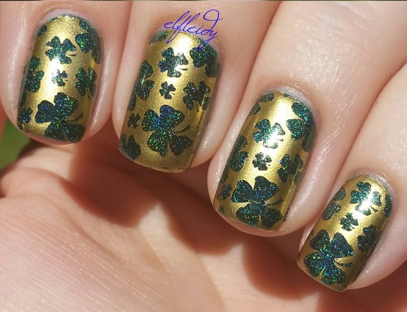 St. Patrick's day nail art by Jenette Maitland-Tomblin