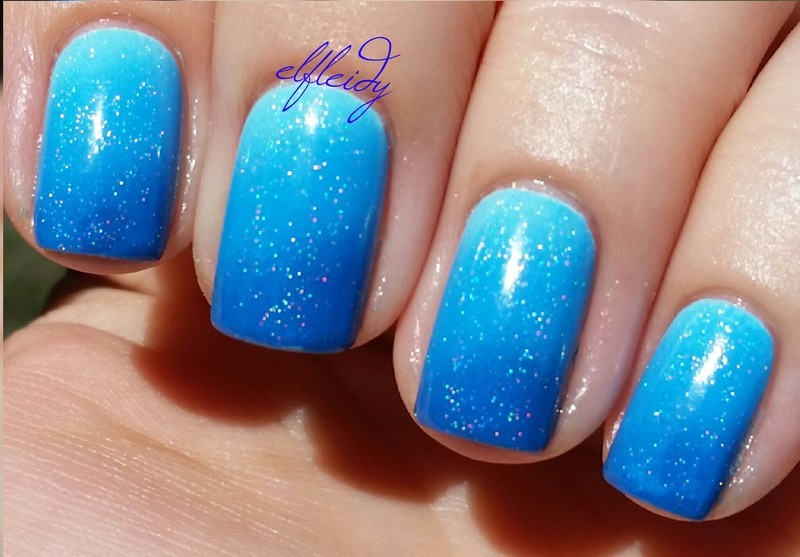 Blue OPI gradient nail art by Jenette Maitland-Tomblin