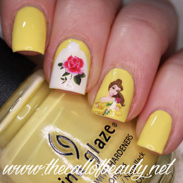 Beauty and the Beast Manicure nail art by The Call of Beauty