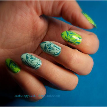 Water marble - like nail art by notcopyacat