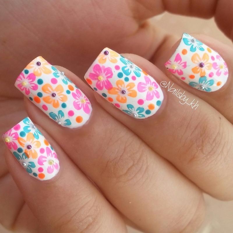 floral nails nail art by nailsofkh